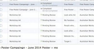 how long facebook ad pending review