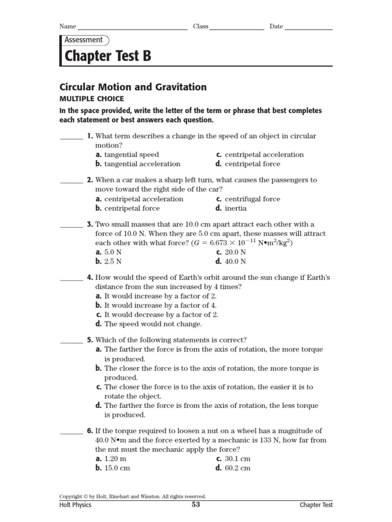 physics chapter 9 review answers