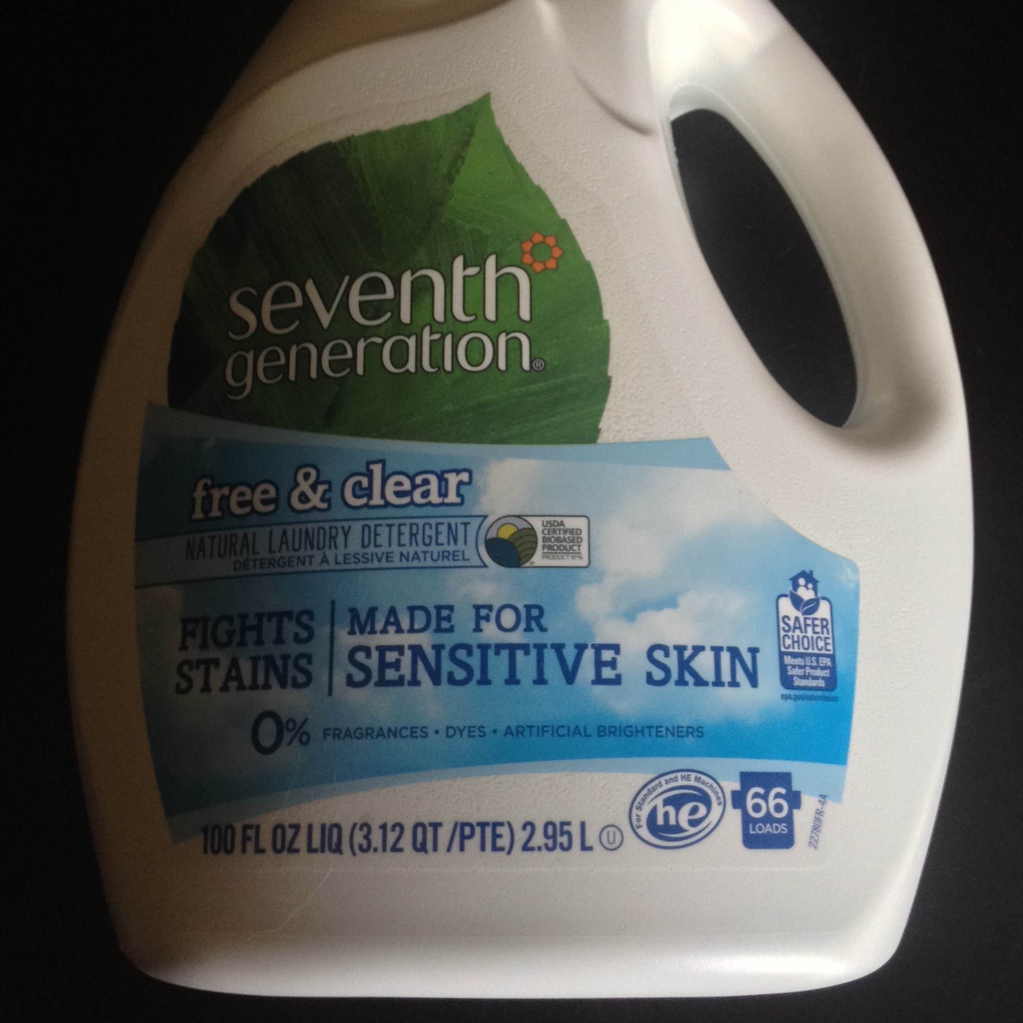 seventh generation free and clear laundry detergent reviews